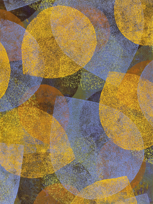 Original Abstract Painting,Contemporary Abstract Art,New Abstract Art,Oil on Panel,Op Art, New Op Art,Post Minimal Art, Orphism, New Orphism,Floating Shapes,Art and Design,Art and Decor, Layered Colors,Colors and Textures,Orange and Blue,Blue and Orange,Gregory Arnett Artist,Hospitality Art,Vibrant Colors